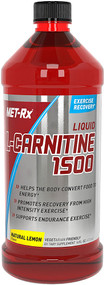 MET-R|X, Liquid L-Carnitine 1500, Natural Lemon Flavor, 16 fl oz (473 ml)