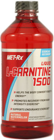 MET-R|X, Liquid L-Carnitine 1500, Natural Watermelon Flavor, 16 fl oz (473 ml)