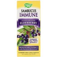 Natures Way, Sambucus Immune, Elderberry Syrup, Berry, 4 fl oz (120 ml)