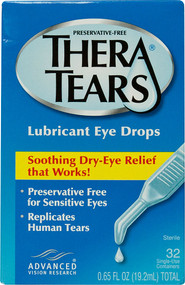 TheraTears Nutrition, Lubricant Eye Drops - 32 Single-Use Containers
