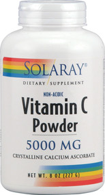 Solaray, Vitamin C Powder Non-Acidic - 5000 mg - 8 oz