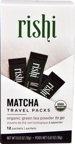 Rishi Tea Organic Matcha Tea Travel Packs -- 12 Packets