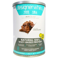 Designer Protein Natural 100% Whey Protein Powder Double Chocolate -- 12 oz