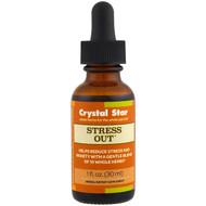 Crystal Star, Stress Out, 1 fl oz (30 ml)