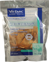 Virbac C.E.T. HEXtra Chews For Dogs - Medium - 30 Chewables