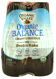 Organic Valley, Organic Balance Milk Protein Shake,  Dark Chocolate - 4 Bottles