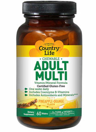Country Life Chewable Adult Multi - 60 Wafers