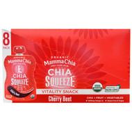 Mamma Chia, Organic Chia Squeeze, Vitality Snack, Cherry Beet, 8 Pouches, 3.5 oz (99 g) Each
