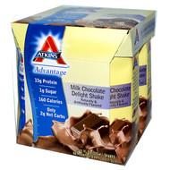 3 PACK of Atkins RTD Shake Milk Chocolate Delight -- 4 Shakes