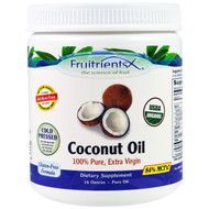 Fruitrients, Coconut Oil, 100% Pure, Extra Virgin, 16 oz