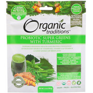 Organic Traditions, Probiotic Super Greens with Turmeric, 3.5 oz (100 g)