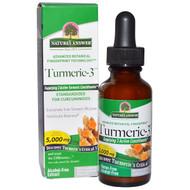 Natures Answer, Turmeric-3, Alcohol-Free, 5,000 mg, 1 fl oz (30 ml)