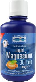 Trace Minerals Research Liquid Magnesium Natural Tangerine -- 300 mg - 16 fl oz