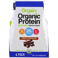 Orgain, Organic Protein Nutritional Protein Shake, Creamy Chocolate Flavor, 4 Pack, 14 fl oz (414 ml) Each