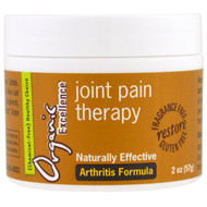 Organic Excellence, Joint Pain Therapy, Arthritis Formula, Fragrance Free, 2 oz (57 g)