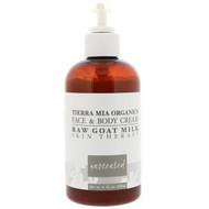 Tierra Mia Organics, Raw Goat Milk Skin Therapy, Face & Body Cream, Unscented, 8 fl oz (226 g)
