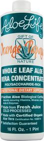 Aloe Life Whole Leaf Aloe Vera Juice Concentrate Orange Papaya -- 16 fl oz