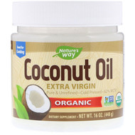 Natures Way, Organic Coconut Oil, Extra Virgin, 16 oz (448 g)