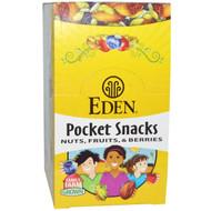 Eden Foods, Pocket Snacks, Organic Wild Berry Mix, 12 Packages, 1 oz (28.3 g) Each