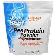 Docs Best, Pea Protein Powder with ProHydrolase, 15.8 oz (450 g)