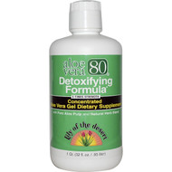 Lily of the Desert, Aloe Vera 80, Detoxifying Formula, 32 fl oz (.95 l)
