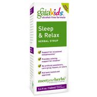 Gaia Herbs, Kids, Sleep & Relax Herbal Syrup, Alcohol-Free, 5.4 fl oz (160 ml)