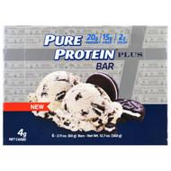 Pure Protein, Plus Bar, Cookies & Cream, 6 Bars, 2.11 oz (60 g) Each