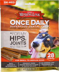 The Missing Link Once Daily Superfood Dental Chew Hips & Joints SM-MED Dogs - 28 Chews