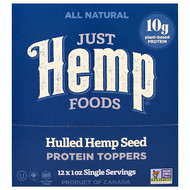 Just Hemp Foods, Hulled Hemp Seed Protein Toppers, 12 Packets, 1 oz (30 g) Each