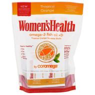 Coromega, Womens Health, Omega-3 Fish Oil + D, Tropical Orange, 30 Packets, 2.5 g Each