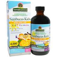 Natures Answer, Sambucus Kids Formula, Natural Orange Flavor, 4,000 mg, 8 fl oz (240 ml)