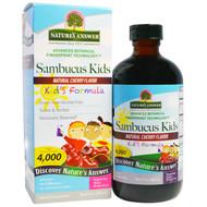 Natures Answer, Sambucus Kids Formula, Natural Cherry Flavor, 4,000 mg, 8 fl oz (240 ml)