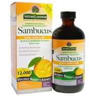 Natures Answer, Sambucus, Natural Orange Flavor, 12,000 mg, 8 fl oz (240 ml)