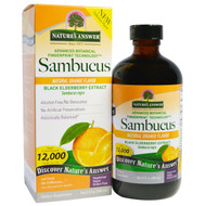 Natures Answer, Sambucus, Natural Orange Flavor, 12,000 mg, 8 fl oz (240 ml)