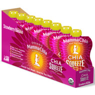 Mamma Chia, Organic Chia Squeeze Vitality Snack, Strawberry Banana, 8 Pouches, 3.5 oz (99 g) Each