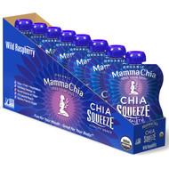 Mamma Chia, Organic Chia Squeeze, Vitality Snack, Wild Raspberry, 8 Pouches, 3.5 oz  (99 g) Each