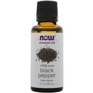 Now Foods, Essential Oils, Black Pepper Oil, 1 fl oz (30 ml)