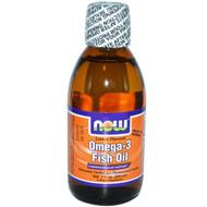 Now Foods, Omega-3 Fish Oil, Lemon Flavored, 7 fl oz (200 ml)
