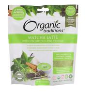 Organic Traditions, Matcha Latte with Probiotics and Vanilla, 5.3 oz (150 g)