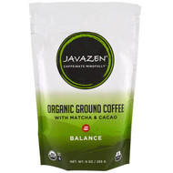 Javazen, Organic Ground Coffee With Match & Cacao, Balance, 9 oz (55 g)