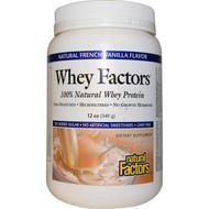 Natural Factors, Whey Factors, 100% Natural Whey Protein, Natural French Vanilla Flavor, 12 oz (340 g)