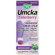 Natures Way, Umcka Elderberry, Intensive Cold+Flu, Soothing Syrup, Berry Flavor, 4 fl oz (120 ml)
