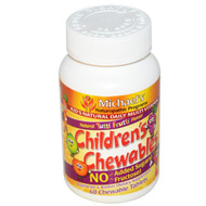 Michaels Naturopathic, Childrens Chewables, Natural Fruit Flavors, 60 Chewable Veggie Wafers