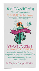 Vitanica Yeast Arrest Vaginal Support - 14 Suppositories