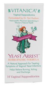 Vitanica Yeast Arrest Vaginal Support -- 14 Suppositories