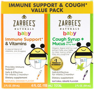 Zarbees, Baby Immune Support & Cough Syrup Value Pack, 2 fl oz (59 ml) Each