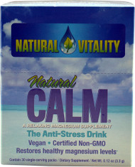 Natural Vitality, Natural Calm, The Anti-Stress Drink, Original, 30 Single-Serving Packs, 0.12 oz (3.3 g) Each