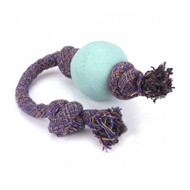Beco Pets, Eco-Friendly Dog Ball On a Rope, Large, Blue, 1 Rope