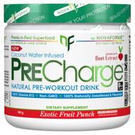 NovaForme, PreCharge Natural Pre-Workout Drink, Exotic Fruit Punch, 140 g