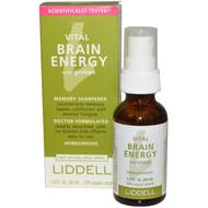 Liddell Homeopathic Brain Energy Spray with Ginkgo -- 1 fl oz